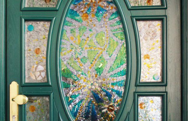 Glaserei Zischka:Kunstverglasung - Glasfusing Tür